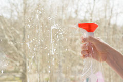 Window cleaning Stock Photography
