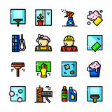 Window Cleaning Services vector icons Stock Photography
