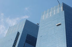 Window Cleaning at Time Warner Center Stock Photography