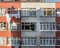 Window cleaning woman Royalty Free Stock Photo