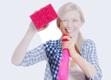 Window cleaning Royalty Free Stock Photos