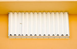 Window with closed blinds Royalty Free Stock Photography