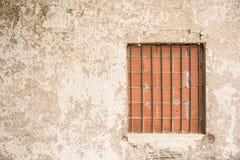 Window closed with bricks Royalty Free Stock Image