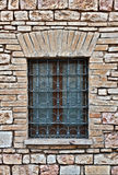 Window. Closed Window of Old Building in Italy stock image