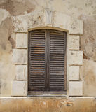 Window closed with shutter Royalty Free Stock Photos