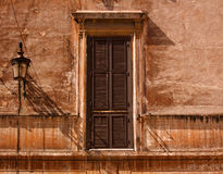 Window with the closed shutters royalty free stock photography
