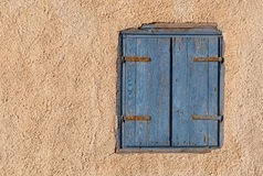 Window with closed shutters Stock Image