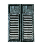 Window with closed shutters Stock Photo