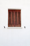 Window with closed shutters Royalty Free Stock Image