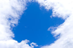 Window in clouds Stock Image