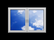 Window with clouds Royalty Free Stock Images