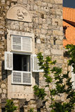 Window with Coat of Arms. Dubrovnik. Croatia Royalty Free Stock Images