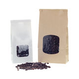 Window coffee bags Royalty Free Stock Photos
