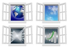 Window collection Royalty Free Stock Photography