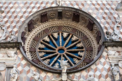 Window of Colleoni chapel in Bergamo Royalty Free Stock Photography