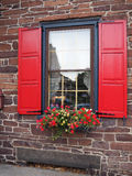 Window for a colonial style house Royalty Free Stock Image