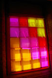 Window with colored glass. Stock Photography