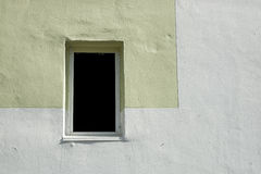 Window in concrete wall. Royalty Free Stock Photography