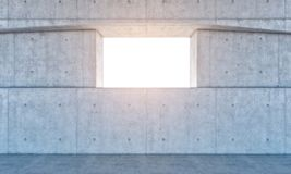 Window and concrete wall Royalty Free Stock Photo