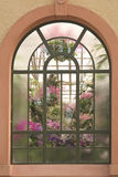 Window in conservatory house Stock Image