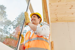 Window construction work Royalty Free Stock Photo