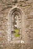 Window in Corfe castle Stock Photo