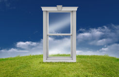 Window in countryside Royalty Free Stock Images