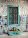 Window in the courtyard in Casablanca Stock Photos