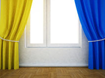The window and the curtain Royalty Free Stock Image