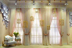 Window and curtain. The European style window and curtain royalty free stock photography