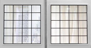 Window and curtain Royalty Free Stock Images