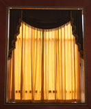 Window Curtains. The curtains and drapery on an old window in a palace Royalty Free Stock Photo