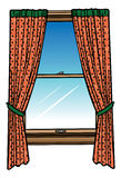 Window and curtains Royalty Free Stock Photos