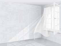 Window and curtains in bright interior Stock Photography