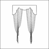 Window curtains Royalty Free Stock Images