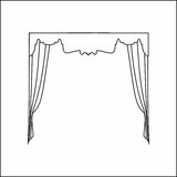 Window curtains Stock Images