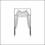 Window curtains Royalty Free Stock Photo