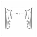 Window curtains Stock Image