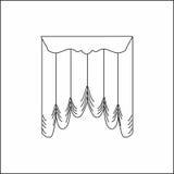 Window curtains Stock Photo