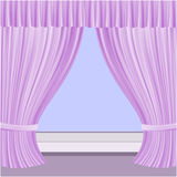 Window with curtains Stock Image