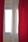 Window curtains Stock Photography