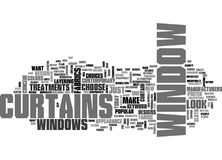 Window Curtains Word Cloud Stock Photography