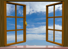 Window - 3D Royalty Free Stock Photos