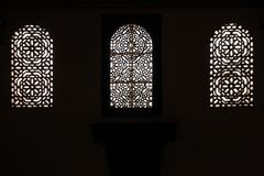 Window. Dar Si Said palace. Marrakesh. Morocco Royalty Free Stock Photo