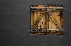 The Window and the dark wall Royalty Free Stock Photography