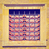 Window. Decorated Closed Window of old Building in Italy, Retro Effect royalty free stock photos