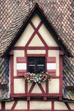 Window decorated with flower in Nuremberg Stock Images