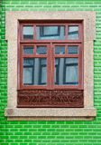 Window. Decorated with Portuguese Ceramic Tiles royalty free stock images