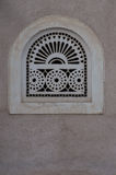 Window decoration. Carving on mud house royalty free stock images