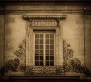 Window and decoration, sephia effect Stock Image